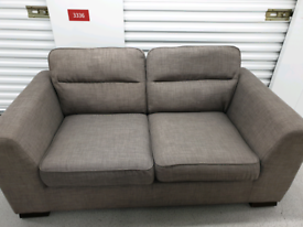 Free Delivery Grey Fabric 3 Seater Sofa