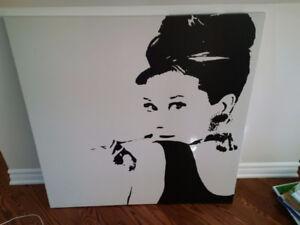 2 toiles Audrey Hepburn