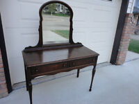 Paid Over $600...Moving Must Sell Antique Walnut Dressing Table