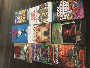 Many books for kids or adults