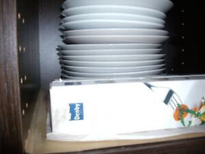 Brand new different size cups, plates for sale each piece $2 Bra