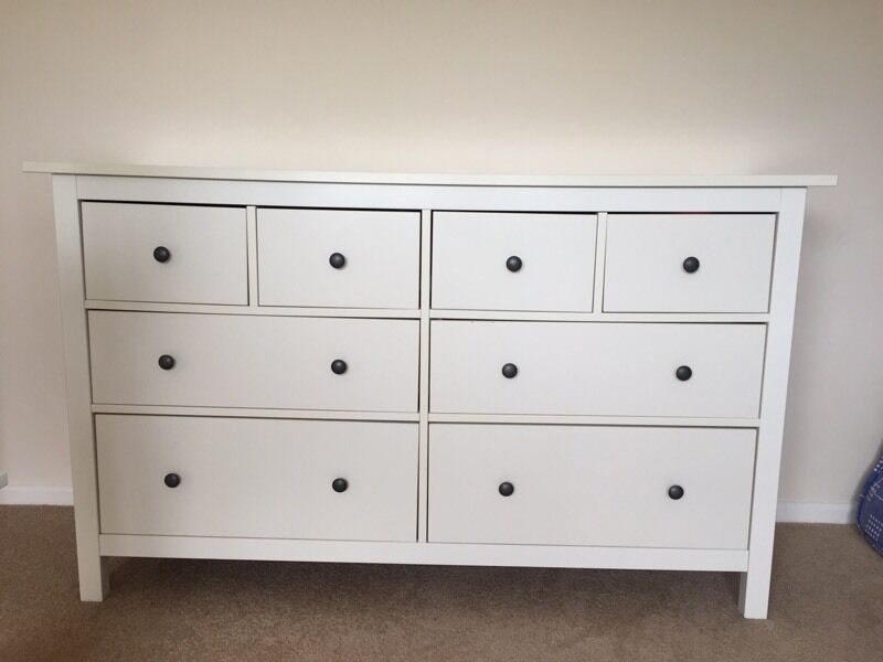 Ikea Hemnes Chest Of Drawers Dresser Cream Off White
