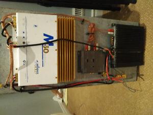 Speaker Box with Phoenix Gold M50 amp and Alpine amp