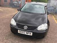 Volkswagen Golf 1.6 FSI ( 115PS ) 2007MY Match Black 5 door full service history