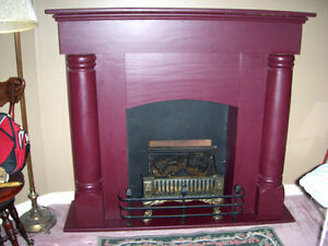 Vintage fake fireplace with insert