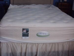 QUEEN BOX SPRING/ MATTRESS and FRAME