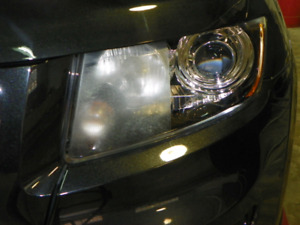 Professional Headlight restoration with clearcoat