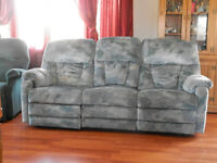 Reclining Couch with fold down console