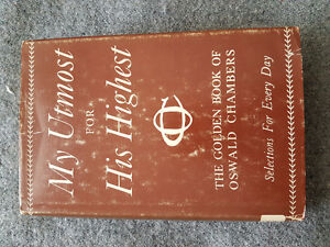 My Utmost for His Highest by Oswald Chambers - First printing