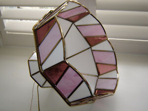 Pretty in Pink -  stained glass lighting fixture London Ontario image 2