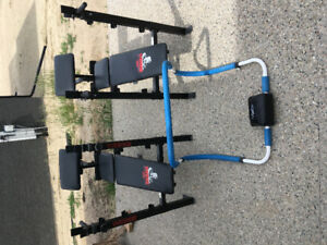 Weight benches & core assistance