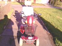 Cat 3 8 mph pride classic mobility scooter for sale good all round condition new batteries +manual