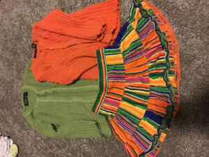 2 sweaters and a skirt size 3