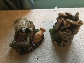 2 Fish Tank Ornaments For Sale