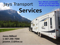 JAYS TRANSPORT SERVICES - $60/HR - 5th wheels, Boats, Flat Decks