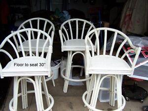 Rattan swivel  stools