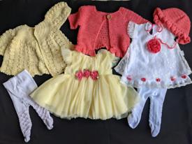 Baby beautiful designer Spanish dresses sets first size newborn baby