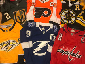 *NEW HOCKEY JERSEYS - VEGAS, BRUINS, WASHINGTON $60ea