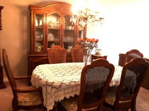 Classic Solid Wood Dining Room Set perfect for Christmas Dinner!