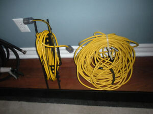 EXTENSION CORDS - 100'   and  25'