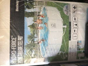 Hydro-force steel pro frame pool set 16 by 48. $ 430