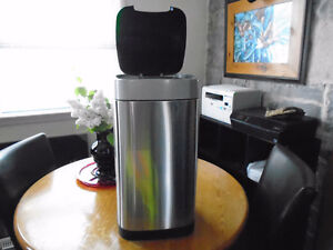 Stainless Steel Trash Can with Motion Sensor Lid