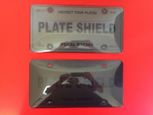 Clear Smoked License Plate Shields - $15 Each Or $25 Both