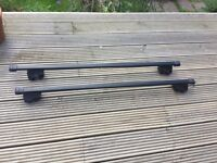 Roof rail for cars with rails, lockable and fully adjustable!