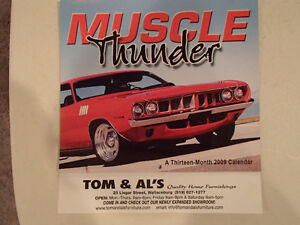 New 2009 MUSCLE THUNDER CAR CALENDAR.