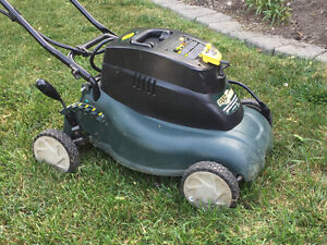 Yard Works battery powered lawnmower