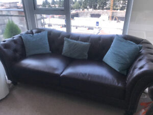 Leather Couch and Matching Loveseat for Sale