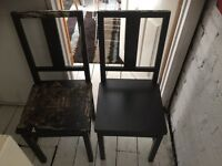 6 dining chairs free to collector