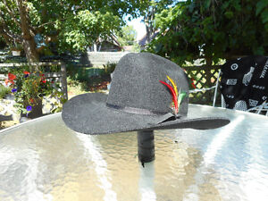 Stetson-style Cowboy Hat...Black...as new!