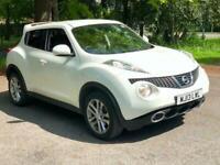 2013 White Juke Accenta Premium 1.6 Petrol 5 Dr Hatch ONLY 47000 Miles Pristine