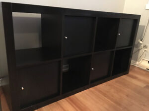"""""""Expedit"""" 8-cube shelving unit with 4 inserts"""