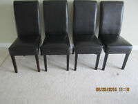 Made in Canada  Chocolate Brown Dining Room Table with Chairs