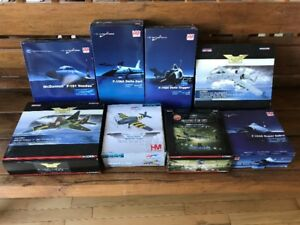 DIE-CAST METAL POST WWII MODEL PLANES - LOT OF 8
