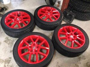 Mags de nissan sentra spec v 2010 17'' poader coat rouge + pneus