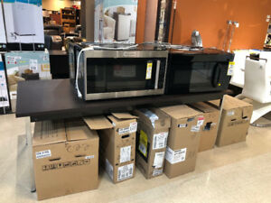Large Selection of Over-The-Range Microwaves and Range Hoods!