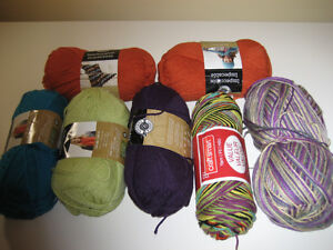 Lot of Worsted Weight Yarn - 5 JUMBO Balls Impeccable & MORE