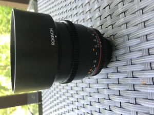 Rokinon CV85M-C 85mm t/1.5 Aspherical Lens - Nikon mount