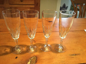 Antique Crystal Sherry Wine Glasses