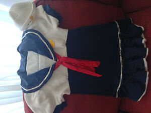 Sailor Costume girls size 6 to 7