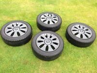 Audi alloys with tyres. 16inch s line