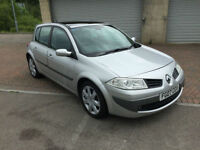 2007 Renault Megane 1.5 DCi Diesel 106 bhp 6 speed 5 Door Dynamique Silver