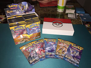 Individual Sealed Pokemon Card Packs Sun and Moon