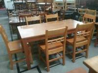 Table & 6 Chairs - Can Deliver For £19