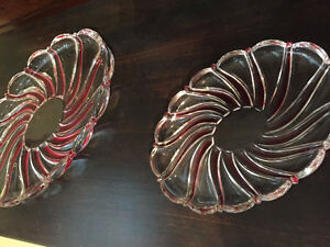 Mikasa Peppermint Red Swirl Dishes