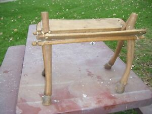 Antique banc pour selle de pony