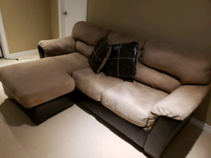 Two Toned Sectional Sofa / Couch